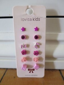 Lovisa Kids Girls Earrings (6 Pack) BRAND NEW (unused, perfect condition)