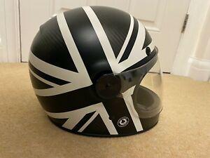 Bell Bullitt Carbon Ace Blackjack motorcycle helmet Size XL