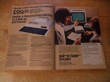 SINCLAIR ZX80  VINTAGE MAGAZINE ADVERT  80 SP