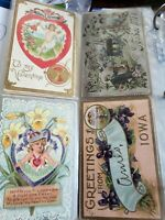 PRICE DROP!  Lot of 231 Vintage Holiday Postcards lot 1904-1949