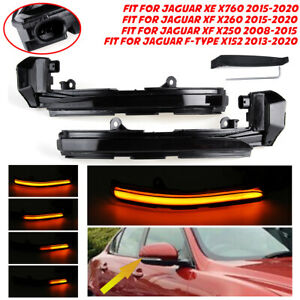 For Jaguar XE XF XJ F-TYPE XK X250 X260 LED Dynamic Side Mirror Indicator Light