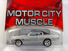 100%  HOT WHEELS CHEVROLET CHEVELLE SILVER BLACK ROOF REAL RIDERS TIRES