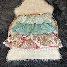 New listing Funktion Cotton Multicolor Ruffle Lace Floral Paisley Adult Half Apron