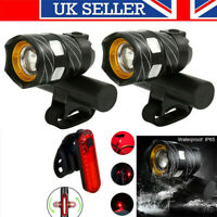 2X Rechargeable 15000LM XM-L T6 LED MTB Bicycle Lights Bike Front+Rear Headlight