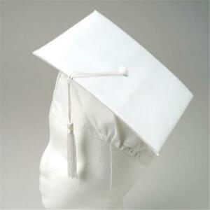 US Toy Company H43 White Graduation Caps - Pack of 12