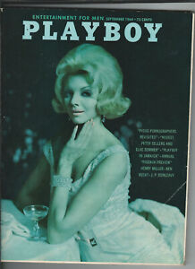 Vintage September 1964 issue Playboy magazine excellent condition