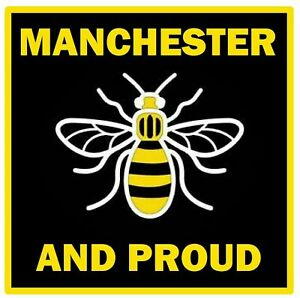 MANCHESTER BEE (PROUD) NOVELTY SOUVENIR COASTERS  - EASY CLEAN / NEW / GIFTS