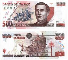 Banco de Mexico 500 Pesos Zaragoza 10-5-1996 Series J. P-110b UNC S4518514