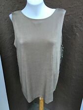 New Soldout Chico's Travelers Clambake Reversible Tank Top Size 3 = XL 16/18 NWT