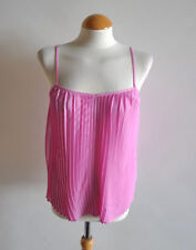 Ladies Atmosphere BNWT Pink Pleated Strappy Cami Blouse Chiffon Flowy Size 8 UK