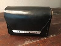 vintage Leather Belt Case For Rollei 35 Camera Honeywell  Black Leather Rare