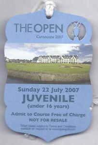 2007 British Open Ticket Sunday July 22nd 4th Tournament round Pádraig Harringto