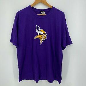 Reebok T-Shirt Men's Size L Purple Minnesota Vikings #4 Brett Favre Large
