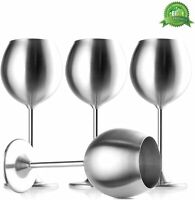 Stainless Steel Stemmed Wine Glasses, Set of 4, 12 Oz, Shatterproof