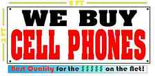 WE BUY CELL PHONES Banner Sign for Iphone Computer SHOP convience store Smart