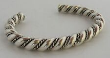 Vintage southwest Sterling silver twisted rope design heavy bracelet