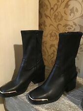Alexander Wang woman's black leather Hailey boot size 37