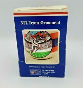 Vintage Denver Broncos NFL Football Ball Christmas Ornament Old Throwback Logo