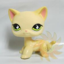 Littlest Pet Shop Collection LPS #733 Green Eye Short Hair Kitty Cat Toy Z1
