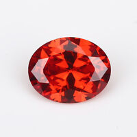 Padparadscha Zircon 7.50ct 10x12mm Oval Faceted Shape VVS AAAAA Loose Gemstone