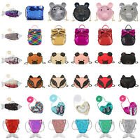 Girls Shoulder Bags Messenger Handbag Kid Sequins Glitter Crossbody Purse Wallet