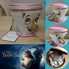 3D Cup PRIMARK Beauty And The Beast Chip Coin Purse Trinket Jewelry Bag Gifts
