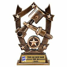 THREE DIMENSIONAL SPARK PLUG CAR SHOW TROPHY RESIN AWARD RACING MSSR41
