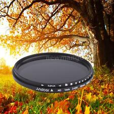 Andoer 58mm ND Fader Neutral Density ND2 to ND400 Variable Filter for Canon OT0W