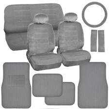 Original Gray Auto Seat Covers for Car Truck SUV Plush Carpet Floor Mats
