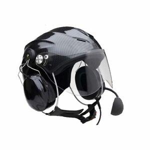 Paramotor / Avionic Helmet Full intercom 3M XP5 Icaro Solar X Carbon RRP £450