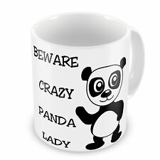 Beware Crazy Panda Lady Novelty Gift Mug