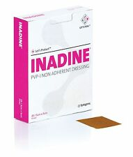 Inadine Dressing 5cm x 5cm PVP Iodine Non Adherent Dressing x 5   **BEST PRICE**
