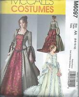 MC CALL'S 6097, MISSES VICTORIAN COSTUME: SIZE 6 TO 12; TOP, SKIRT, BUSTLE TRAIN