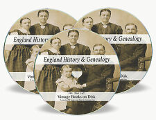English History Genealogy Rare Books on 3x DVD - Family Tree Parish Registers B1