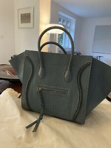 ** Celine 100% Original Phantom Bag Python Jeansblue limited 3.800€ TOP Zustand*