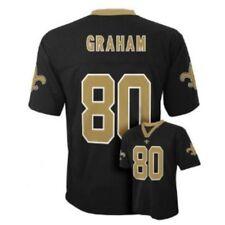 Jimmy Graham New Orleans Saints NFL Kids Size 4 Replica Jersey Black $45