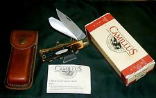 Camillus 716 Knife Dura-Stag Handles W/Rear Locks Original Packaging & Sheath