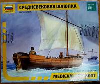 Nave Medievale 8cm Medieval Life Boat - Zvezda Kits 9033 1:72