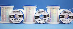 Veevus PEARL TINSEL smal, medium & large Veevus PEARL TINSEL