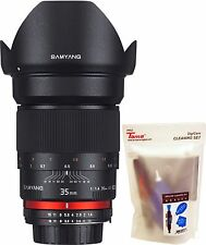 Samyang 35mm F1.4 AS IF UMC f/1.4 Wide Angle Lens for Nikon AE Version + GIFT