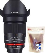 Samyang 35mm F1.4 AS IF UMC f/1.4 Wide Angle Lens for Nikon AE Version + GIFT