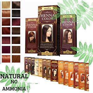 Venita Henna Extract Natural Hair Dye Colouring Herbal Conditioner Balm Cream