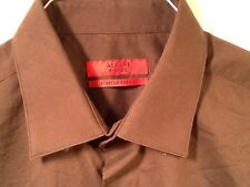 Alfani Fitted Stretch Black Long Sleeved Shirt XL 36/37 100% Cotton $52 Retail