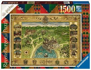 1500 pcs jigsaw puzzle: Harry Potter Hogwarts Map (Ravensburger 165995)
