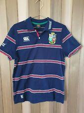 Canterbury British Irish Lions NZ 2017 striped rugby polo. Size S. Navy blue