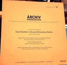 Archiv APM 14004 Das Schaffen JS Bach VG+/EX rare audiophile