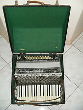 RARE ORIGINAL VINTAGE SILVER PEARL HOHNER VERDI  II - PIANO ACCORDION