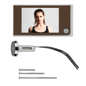 "3.5"" 120° HD Digital LCD Peephole Viewer Doorbell Cat Eye Camera Video Door Bell"