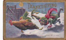 Thanksgiving Greetings ,Lost By A Tail , Pu-1909