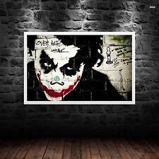 Joker Heath Ledger Print Poster WallArt A6 A5 A4 A3 Batman Dark Knight - 1020
